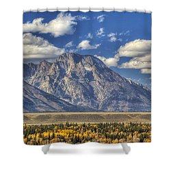 Teton Glory Shower Curtain by Mark Kiver
