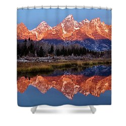 Shower Curtain featuring the photograph Teton Majesty by Benjamin Yeager