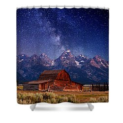 Teton Nights Shower Curtain by Darren  White