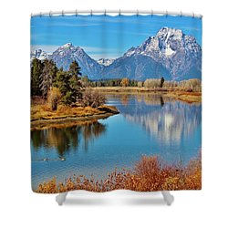 Shower Curtain featuring the photograph Teton Tranquility by Benjamin Yeager