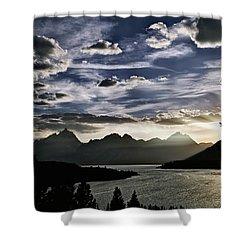Teton Range Sunset Shower Curtain