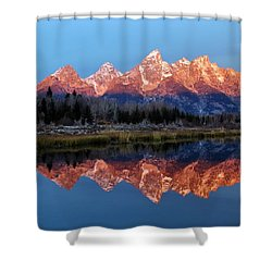 Shower Curtain featuring the photograph Teton Sunrise by Benjamin Yeager