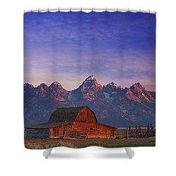 Teton Sunrise Shower Curtain by Darren  White