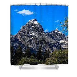 Teton View Shower Curtain by Robert Bales