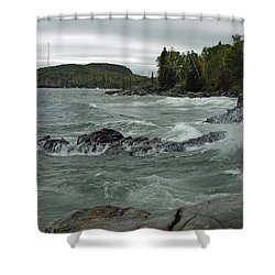 Tettegouche State Park Shower Curtain by James Peterson