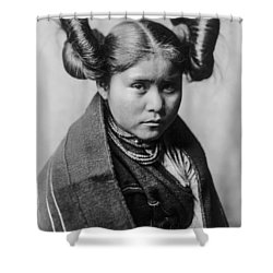 Tewa Girl Shower Curtain by Aged Pixel