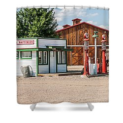 Texaco And Mack Shower Curtain by Sue Smith