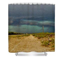 Texas Blue Thunder Shower Curtain by Ed Sweeney