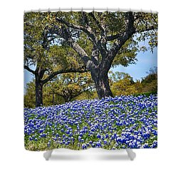 Texas Bluebonnet Hill Shower Curtain