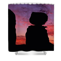 Texas Canyon Sunset Shower Curtain