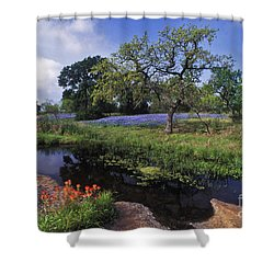 Texas Hill Country - Fs000056 Shower Curtain