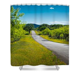 Texas Hill Country Road Shower Curtain