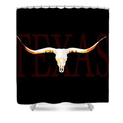 Texas Longhorns By Sharon Cummings Shower Curtain by Sharon Cummings