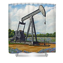 Texas Oil Well Shower Curtain