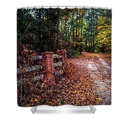 Texas Piney Woods Shower Curtain by Linda Unger