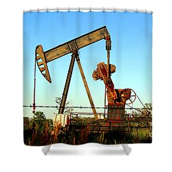 Texas Pumping Unit Shower Curtain