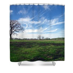 Texas Sky Shower Curtain by Brian Harig