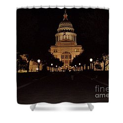 Shower Curtain featuring the photograph Texas State Capital by John Telfer