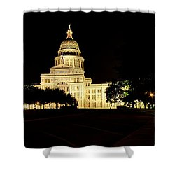 Shower Curtain featuring the photograph Texas State Capitol by Dave Files