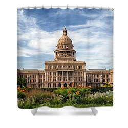 Texas State Capitol II Shower Curtain by Joan Carroll