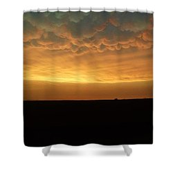 Texas Sunset Shower Curtain by Ed Sweeney