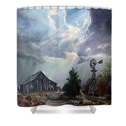 Texas Thunderstorm Shower Curtain