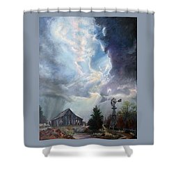 Texas Thunderstorm Shower Curtain by Karen Kennedy Chatham
