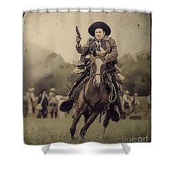 Texican Cavalry Shower Curtain by Kim Henderson