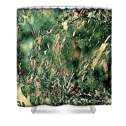 Textured Abstraction Shower Curtain