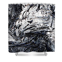 Textured Black And White Series 2 Shower Curtain