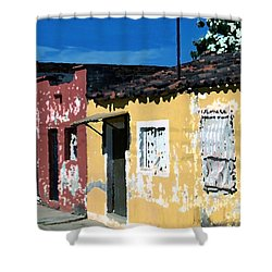 Textured - City In Mexico Shower Curtain