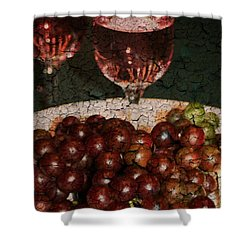 Textured Grapes Shower Curtain by Barbara S Nickerson