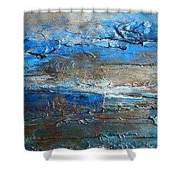 Textured Original Abstract Dune Shower Curtain