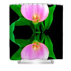 Shower Curtain featuring the photograph Textured - Pink Lily by Gena Weiser