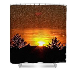 Shower Curtain featuring the photograph Textured Rural Sunset by Gena Weiser