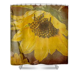 Textured Sunflower Shower Curtain