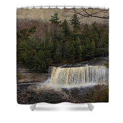 Textured Tahquamenon River Michigan Shower Curtain