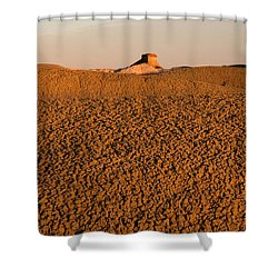 Textures In The Bisti Wilderness Shower Curtain by Vivian Christopher