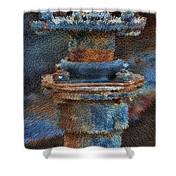 Texturized Pipe Shower Curtain