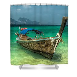 Thai Boat  Shower Curtain