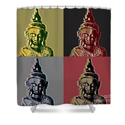 Thai Buddha Shower Curtain