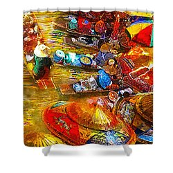 Thai Market Day Shower Curtain