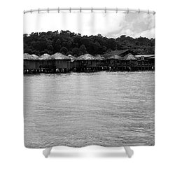 Shower Curtain featuring the photograph Thai Village by Andrea Anderegg