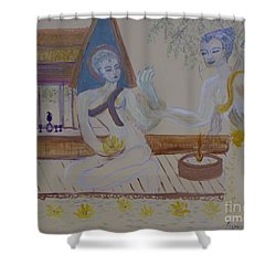 Shower Curtain featuring the painting Thailand by Avonelle Kelsey