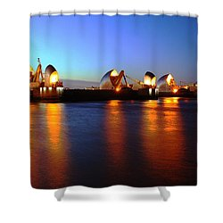 Shower Curtain featuring the photograph London Thames River by Mariusz Czajkowski