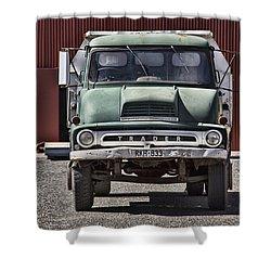 Thames Trader Vintage Truck Shower Curtain by Douglas Barnard