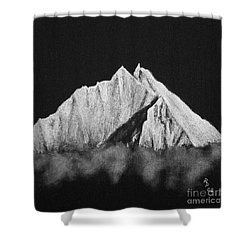 Shower Curtain featuring the painting Thamserku  by Rudi Prott