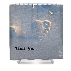 Shower Curtain featuring the photograph Thank You by Jocelyn