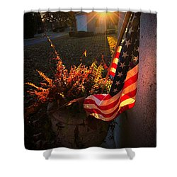 Shower Curtain featuring the photograph Thank You For Serving by Robert McCubbin