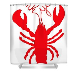 Thank You Lobster With Feelers Shower Curtain by Julie Knapp